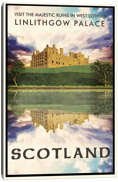 Scotland-Linlithgow Lake Canvas Art Print
