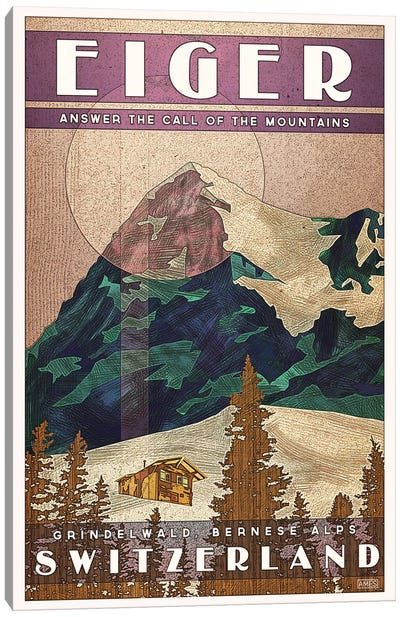 Switzerland-Eiger Canvas Art Print
