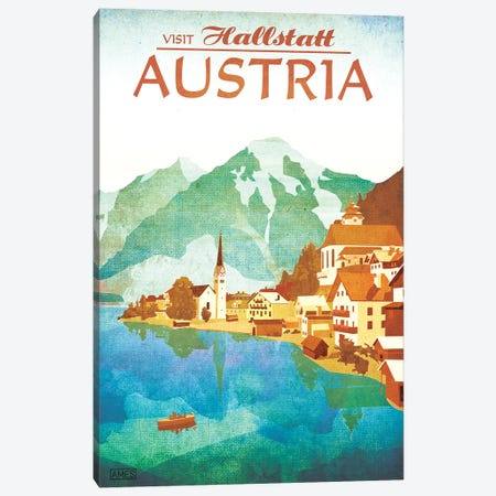 Austria-Hallstatt 3-Piece Canvas #ISS2} by Missy Ames Canvas Artwork