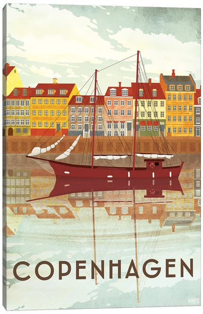 Denmark-Copenhagen Port Canvas Art Print