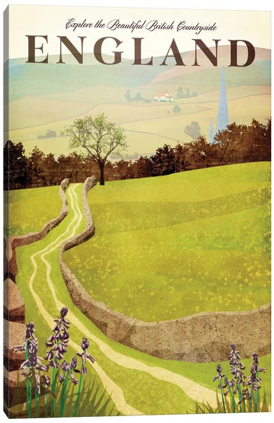 England-British Countryside Canvas Art Print