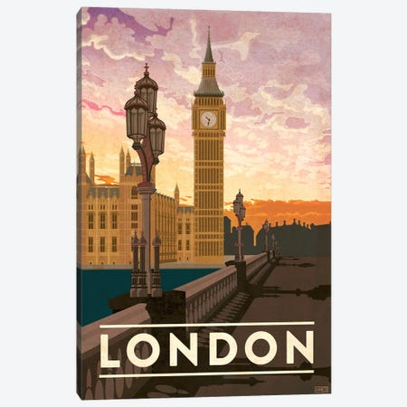 England-London 3-Piece Canvas #ISS9} by Missy Ames Canvas Artwork