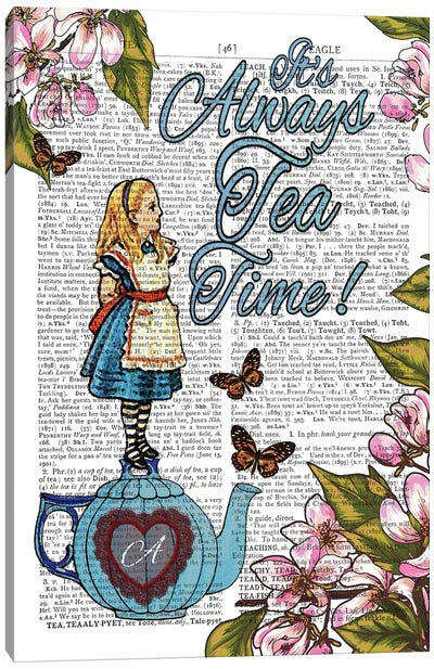 Alice In Wonderland ''tea Time!'' Canvas Art Print