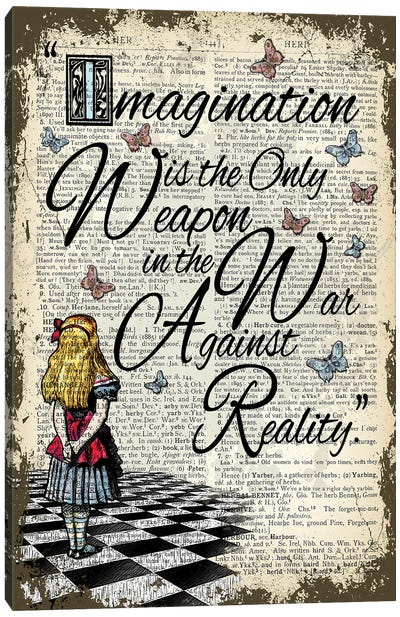 Alice In Wonderland ''Imagination Is The Only Weapon'' Canvas Art Print