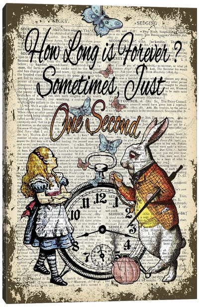Alice In Wonderland ''One Second'' Canvas Art Print