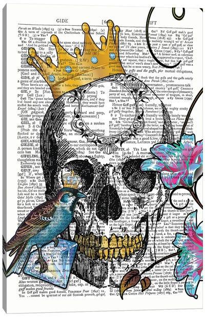 The Blue Bird King Canvas Art Print