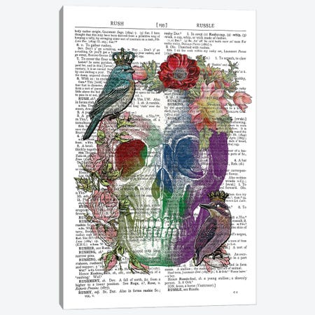 Watercolour Skull Canvas Print #ITF11} by In the Frame Shop Canvas Print