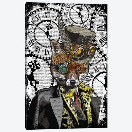 Steampunk Fox Canvas Print #ITF20} by In the Frame Shop Canvas Artwork
