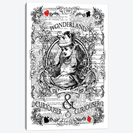 Alice In Wonderland ''Curiouser'' Canvas Print #ITF2} by In the Frame Shop Canvas Art Print