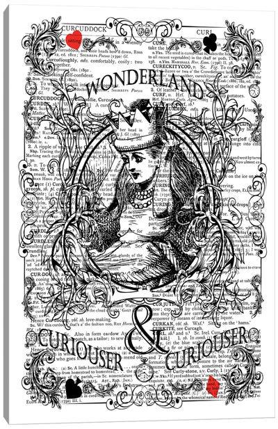 Alice In Wonderland ''Curiouser'' Canvas Art Print