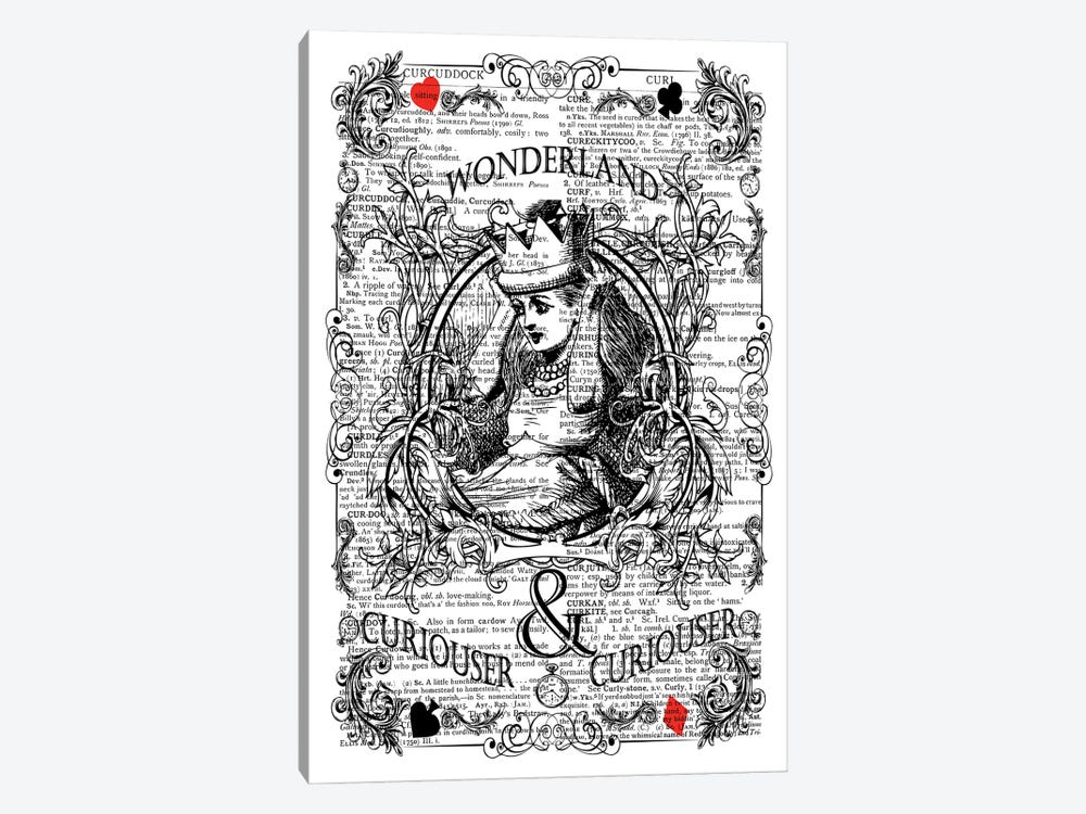 Alice In Wonderland ''Curiouser'' by In the Frame Shop 1-piece Canvas Art