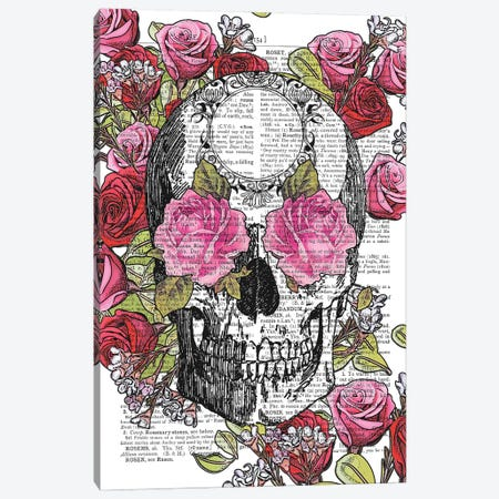 Skull And Roses Canvas Print #ITF32} by In the Frame Shop Canvas Art Print