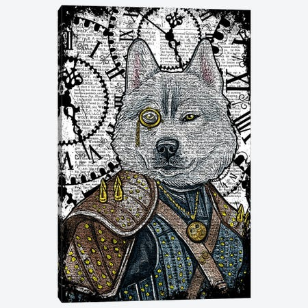 Steampunk Wolf Canvas Print #ITF40} by In the Frame Shop Canvas Art