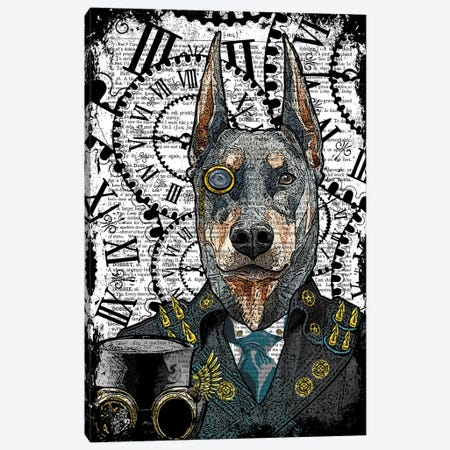Steampunk Doberman Canvas Print #ITF45} by In the Frame Shop Canvas Print