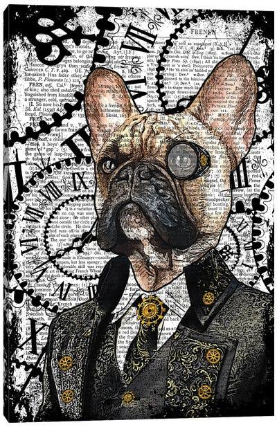 Steampunk French Bulldog Canvas Art Print