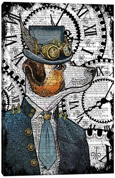 Steampunk Jack Russell Canvas Art Print