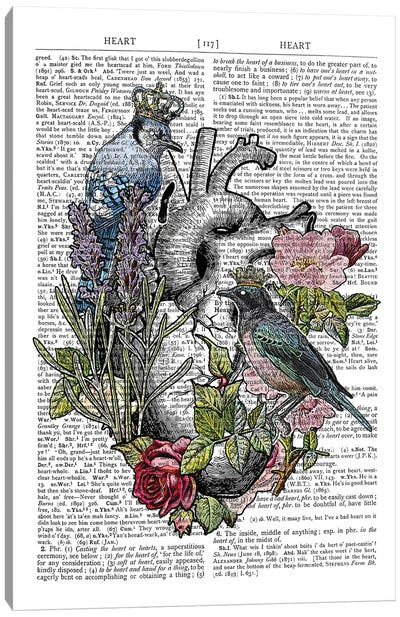 Anatomical Heart Canvas Art Print