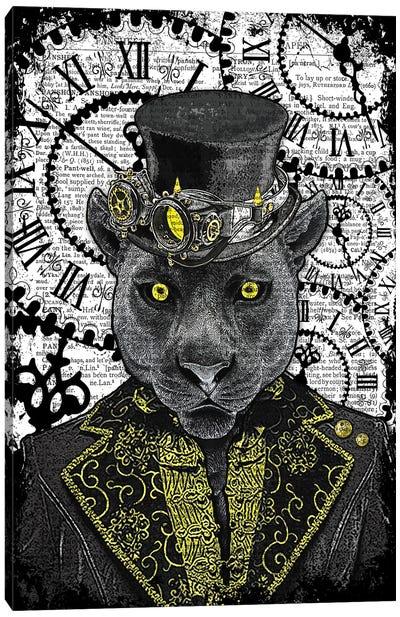 Steampunk Black Panther Canvas Art Print
