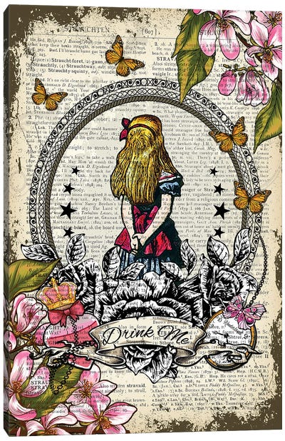 Alice In Wonderland ''Drink Me'' Canvas Art Print