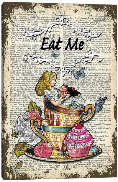 Alice In Wonderland ''Eat Me'' Canvas Art Print
