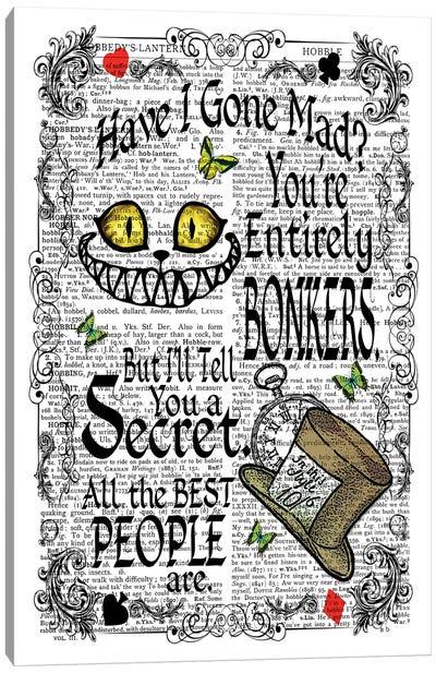 Alice In Wonderland ''Bonkers'' Canvas Art Print