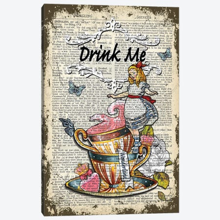 """Alice In Wonderland ''Drink Me"""" II Canvas Print #ITF60} by In the Frame Shop Canvas Wall Art"""