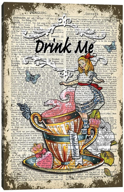 "Alice In Wonderland ''Drink Me"" II Canvas Art Print"