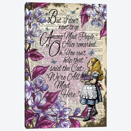 Alice In Wonderland ''Among Mad People'' Canvas Print #ITF61} by In the Frame Shop Canvas Art