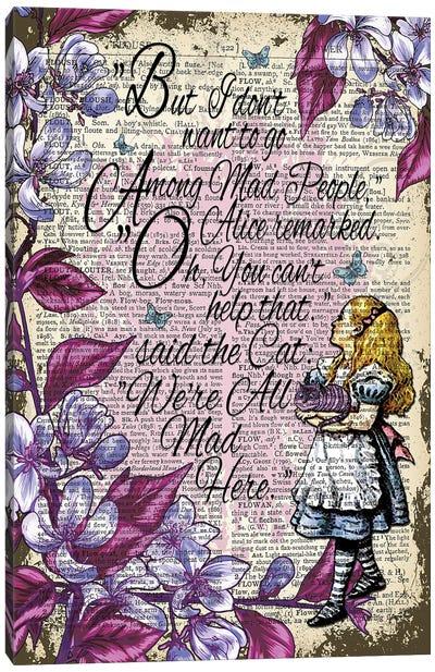 Alice In Wonderland ''Among Mad People'' Canvas Art Print