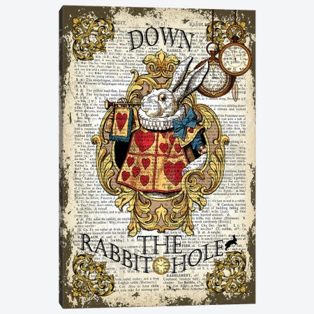 Alice In Wonderland ''Down The Rabbit Hole'' Canvas Print #ITF62} by In the Frame Shop Canvas Art