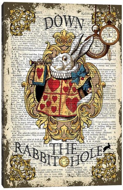 Alice In Wonderland ''Down The Rabbit Hole'' Canvas Art Print