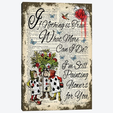 Alice In Wonderland ''Painting Flowers'' Canvas Print #ITF63} by In the Frame Shop Canvas Wall Art