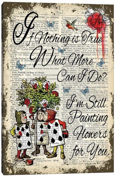 Alice In Wonderland ''Painting Flowers'' Canvas Art Print