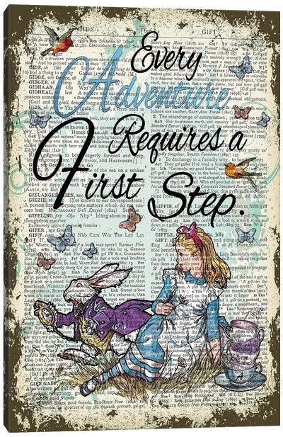 Alice In Wonderland ''Adventure'' Canvas Art Print