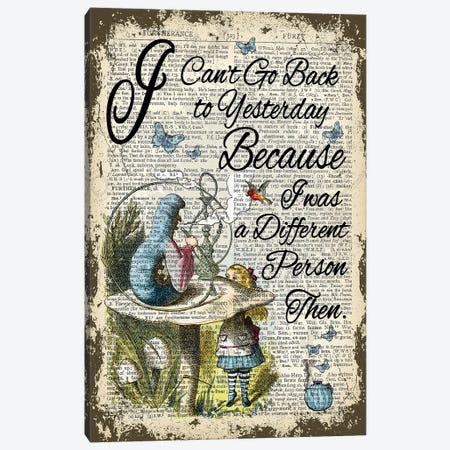 Alice In Wonderland ''Yesterday'' Canvas Print #ITF65} by In the Frame Shop Art Print