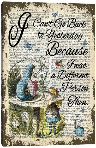 Alice In Wonderland ''Yesterday'' Canvas Art Print
