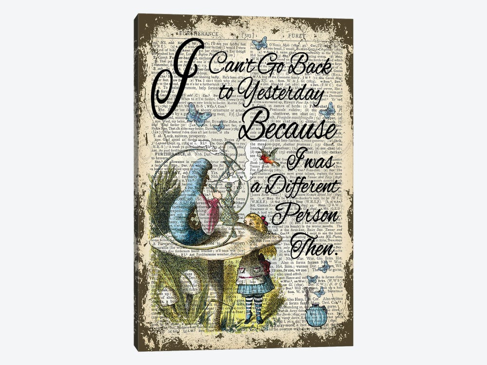 Alice In Wonderland ''Yesterday'' by In the Frame Shop 1-piece Canvas Art