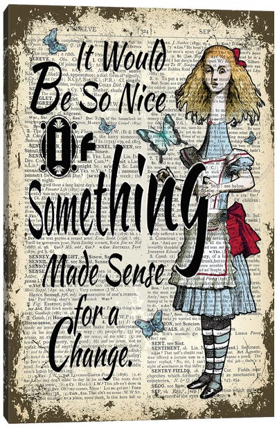 Alice In Wonderland ''Giant Alice'' Canvas Art Print