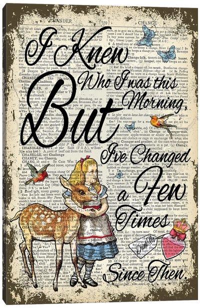 Alice In Wonderland ''I've Changed...'' Canvas Art Print
