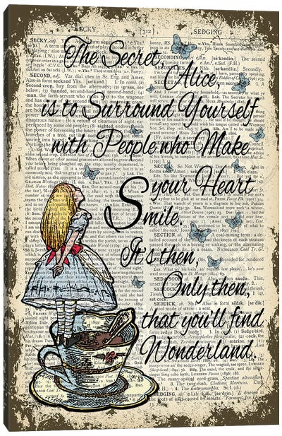 Alice In Wonderland ''Secret'' Canvas Art Print