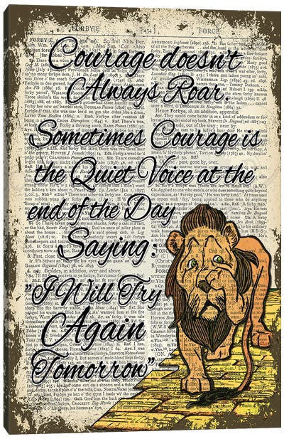 Wizard Of Oz ''Cowardly Lion'' Canvas Art Print