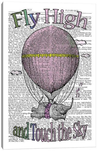 Fly High ''Pink'' Canvas Art Print