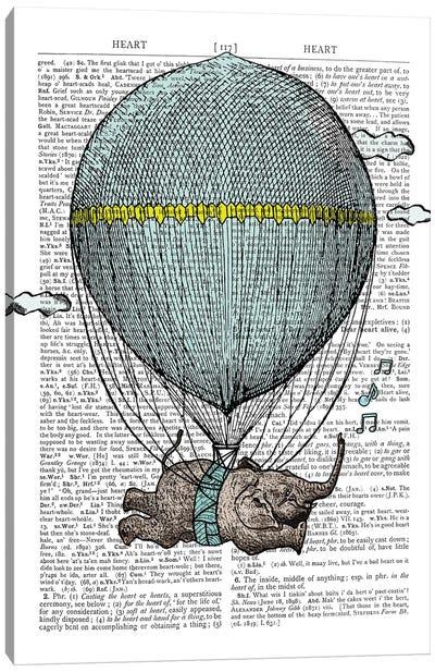 Flying Balloon Canvas Art Print