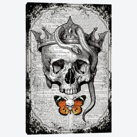 Skull & Snake Canvas Print #ITF78} by In the Frame Shop Canvas Print