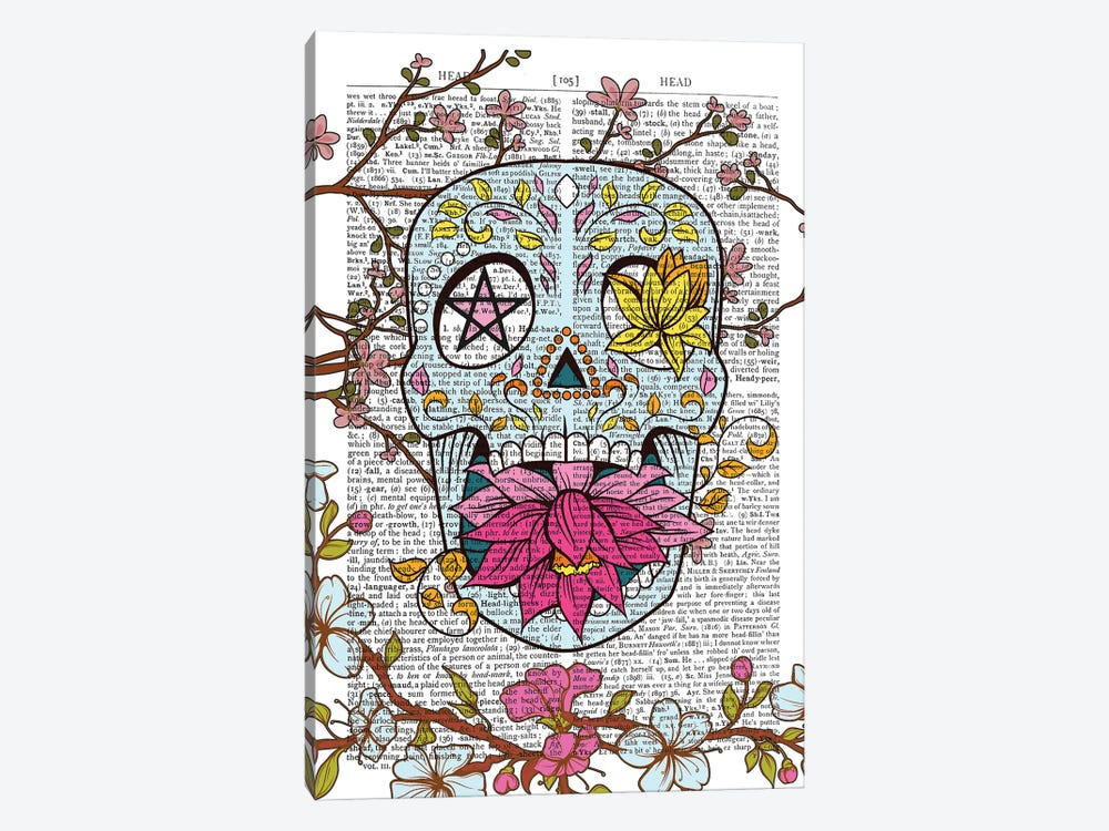 Mexican Skull by In the Frame Shop 1-piece Canvas Art Print