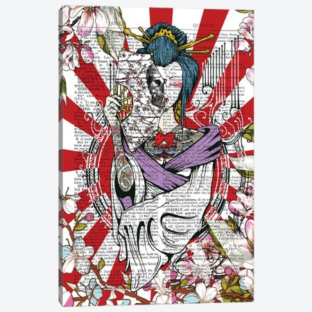 Tattooed Geisha Canvas Print #ITF80} by In the Frame Shop Canvas Art