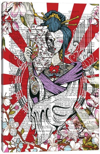 Tattooed Geisha Canvas Art Print