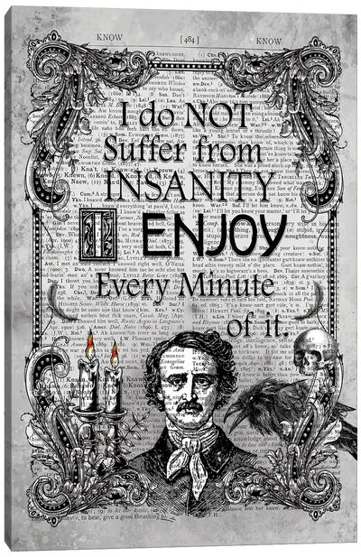 Edgar Allan Poe ''Insanity'' Canvas Art Print