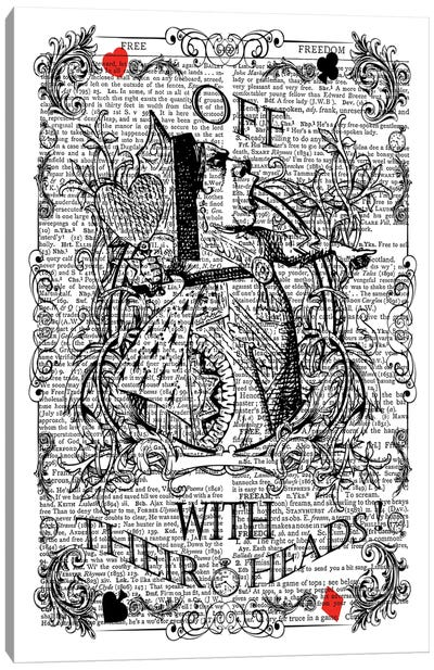 Alice In Wonderland ''Queen Of Hearts / Off With Their Heads!'' Canvas Art Print