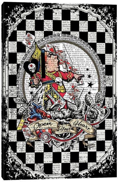 Alice In Wonderland ''Queen Of Hearts / Open Your Heart'' Canvas Art Print